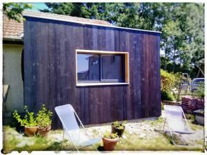Extension pour dressing - Bardage Shu Sugi Ban Maison (Rhône)