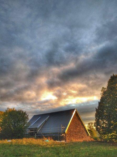 Couverture et zinguerie d'une grange à Meallet (Cantal)