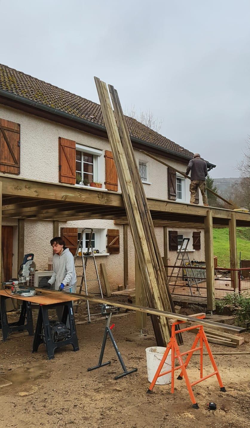 Création de terrasse - Nolay -21